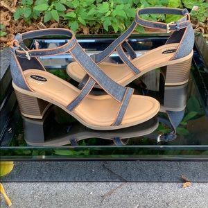 Dr. Scholl's true comfort denim heels